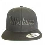 Pittsburg - Black And Black - Snapback Hat