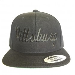 Pittsburg - Black And Black - Snapback Hat