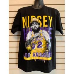 Nipsey Hussle - LA  - Black - Custom T-Shirt