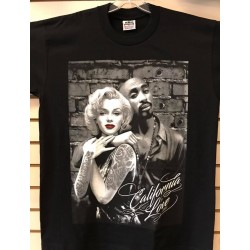 2Pac & Marilyn - Black - Custom T-Shirt