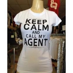Keep Calm - White - Custom Printed T-Shirt