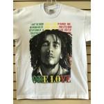 Bob Marley - One Love - White - Custom T-Shirt