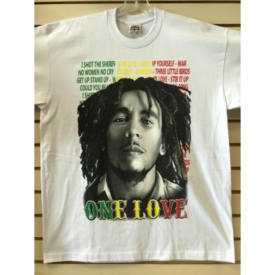 Bob Marley - One Love - White - Custom T-Shirt
