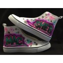 Custom airbrushed shoes