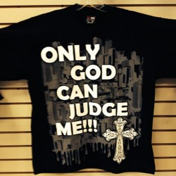 Cx Wear - Only God Can Judge Me - Black