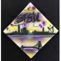 Custom airbrush on graduation cap