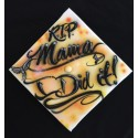 Personalized airbrush graduation cap