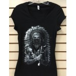 Indian Eyes - Black - Ladies - Custom Printed T-Shirt
