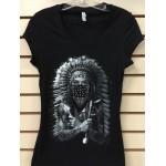 Indian Eyes - Black - Ladies - Custom Printed T-Shirt