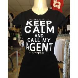 Keep Calm - Black - Custom-Printed-T-Shirt
