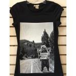 Cali Bear I Need A Ride - Black - Ladies - Custom Printed T-Shirt