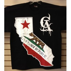 Cx Wear - Cali Bear - Black - Custom Printed T-Shirt