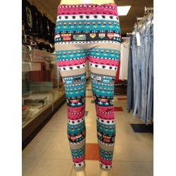 Leggings - Pink And Teal