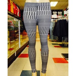 Leggings - Checker - Black And White