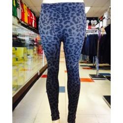 Leggings - Leopard - Gray