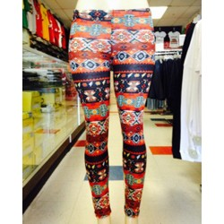 Leggings - Fiesta - Orange And Red