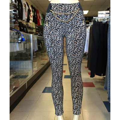 Leggings - Leopard Print With Chains