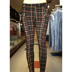 Leggings - Checker - Burgundy and Green