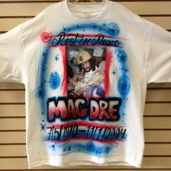 Mac Dre - Airbrush And Heat Transfer - Custom Printed T-Shirt