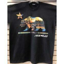 Norcal Bear City Skyline - Black - Custom T-Shirt