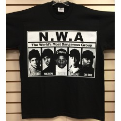 N.W.A - Black - Custom T-Shirt