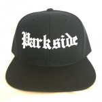 Parkside - Old School - White Print - Black Snapback Hat