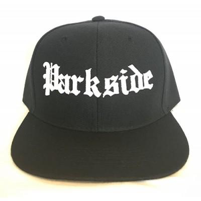 Parkside - Old School - White Print - Black Snapback Hat