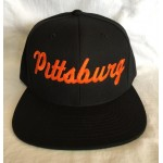 Pittsburg - Black And Orange - Snapback Hat