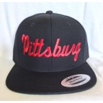 Pittsburg - Black And Red - Snapback Hat