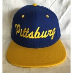 Pittsburg - Warriors Colors - Blue And Gold - Snapback Hat