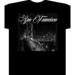 San Francisco lights  - Black - Custom T-Shirt
