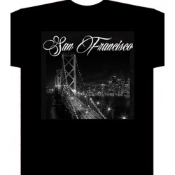 San Francisco lights  - Black - Custom T-Shirt