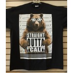 Straight Outta Cali Bear - Black - Custom T-Shirt