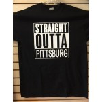 Straight Outta Pittsburg - Black - Custom T-Shirt