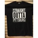 Straight Outta Pittsburg - Black - Custom T-Shirt