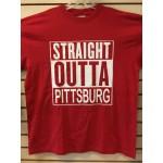 Straight Outta Pittsburg - Red - Custom T-Shirt