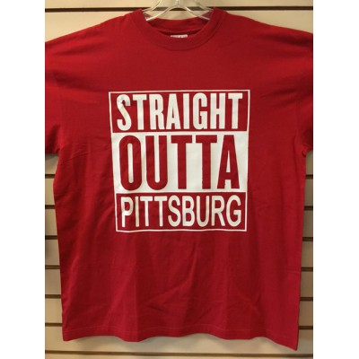 Straight Outta Pittsburg - Red - Custom T-Shirt