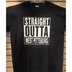 Straight Outta West Pittsburg - Black And White - Custom T-Shirt